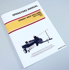 SPERRY NEW HOLLAND 310 HAYLINER SQUARE BALER OWNERS OPERATORS MANUAL MAINTENANCE