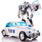 Bumblebee Police White Autobot Deformable Robot 8in Action Figure Child Kids Toy