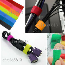 7Pc/Set Straps Wrap Wire Organizer Cable Tie Rope Holder for Laptop PC TV