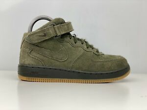 Nike Air Force 1 Mid LV8 Boys Green Suede Trainers UK Size 2