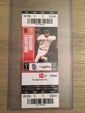 2017 SF Giants vs SD Padres Mint Ticket Stub 9/30/17 Matt Cain Final Game!