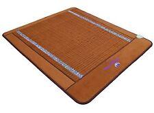 Ereada FIR Amethyst Mat - Negative Ion Infrared Heating Pad - Queen 59x75 Brown