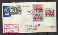 Nations Unies New-York Peru Lima 5 timbres sur lettre tampon date 1966/B5N-U17
