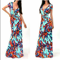 Women Summer Boho Long Maxi Evening Party Cocktail Dress Floral Beach Dresses