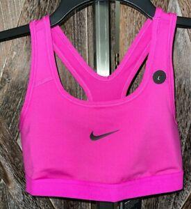 NIKE NWT Dri-Fit Fuchsia Pink Racerback Sports Bra Girls sz L