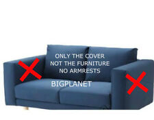 IKEA NORSBORG 2 Seat Sofa Slipcover Cover Edum Dark Blue No Armrest 003.040.87