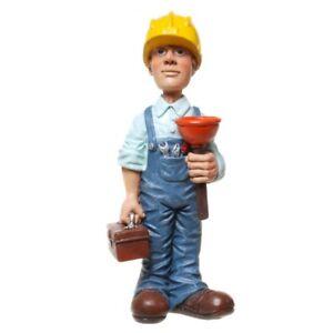 Funny Beruf - Figur Klempner mit Helm