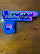 Old school 87 GT  Performer Bmx Freestyle Nylon Pads Blue