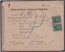 Costa Rica Prospero Fernandez Stamps USED as Revenue Tobacco Licour 1889JBP