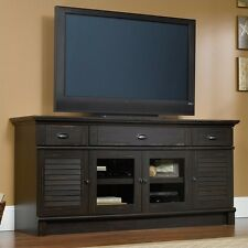 Entertainment Center Cabinet Harbor View Credenza in Antiqued Paint TV Stand