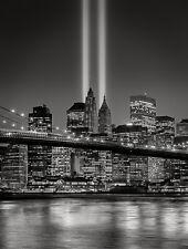 QUADRI MODERNI POSTER 100X70 NEW YORK SKYLINE BROOKLYN BLACK AND WHITE BIANCO