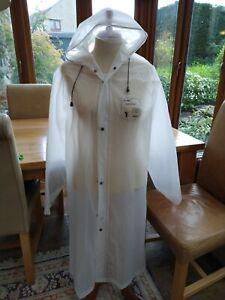 PVC/Vinyl raincoat - natural/white