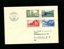 Switzerland 1948 Pro Patria Mountains Italian FDC  Sc B174-77 / Zum B38-41