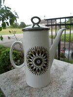 Vintage Swinnertons Staffordshire England Teapot Coffee Pot Green Starburst MCM