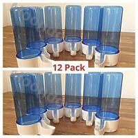 12x 200cc Cage Bird Water Drinker / Feeder Finch Canary Budgie Aviary Anti Algae
