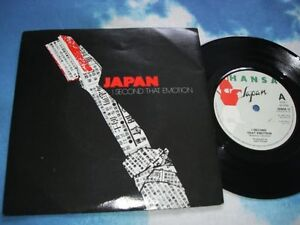 JAPAN – I Second That Emotion SYNTH POP UK 7 inch Single SYLVIAN/KARN/BARBIERI