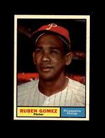 1961 Topps Baseball #377 Ruben Gomez (Phillies) NM