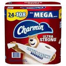 Charmin Ultra Strong Toilet Paper Bulk Mega Rolls (308 sheets/roll, 24 rolls)