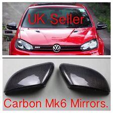 SET OF VW GOLF MK6 CARBON FIBRE REPLACEMENT WING MIRROR GTD GTI R TOURAN