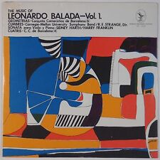LEONARDO BALADA: Music Vol 1 SEALED Serenus VINYL LP Contemporary Classical