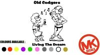 OLD CODGERS LIVING THE DREAM FUNNY CARAVAN CAMPER  MOTORHOME STICKER