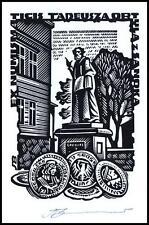 Leonenko Vasyl 1997 Exlibris X3 Numismatics Coins Munzen Architecture Sanok 824
