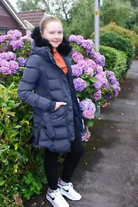 Charcoal Fashion Girl's NAVY Back to School Quilted Winter Puffa Coat