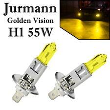 2x Jurmann H1 55W 12V Golden Vision Yellow Gelb Headlight Ersatz Lampe E-geprüft