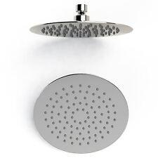 """8"""" Round Modern Flat Thin Slimline Chrome Shower Head 20cm Bathroom Mixer"""
