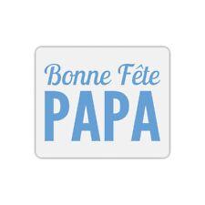 Tapis de souris rectangle bonne fête papa bleu