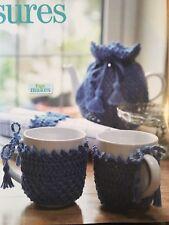 Crochet Pattern Coffee Pot Warmer Tea Cosy Mug Hug Napkin Ring Home Wendy Dk