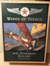 Wings of Texaco #3 1931 Stearman Biplane Mint in Box Plane
