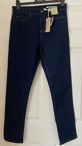 BNWT MARKS & SPENCER INDIGO THE LILY SLIM MID RISE JEANS SIZE 14 LONG