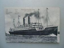 Ansichtskarte Hamburg-Amerika Linie P. D. Amerika Schiff Passagierschiff