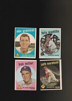 1959 Topps Baseball 11 Card Lot Poor-VG Condition See Scans