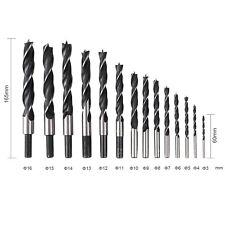 6tlg.Holz /& Schlangenbohrer Holzbohrer 6//8//10//12//16//25mm 46cm Lang Im Holzkoffer