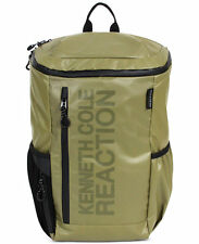 $240 Kenneth Cole Mens GREEN POLYESTER BACKPACK WORK TRAVEL SCHOOL BRIEFCASE BAG
