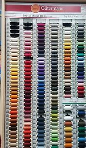 Gutermann Sew All Polyester Thread 100m (ALL COL) only 1.35 MUST BUY