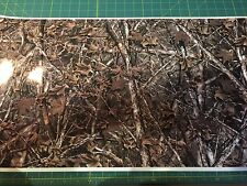 """CAMO VINYL WRAP 9"""" inches x 12"""" truck gear woodland real Rifle hunting deer A15"""
