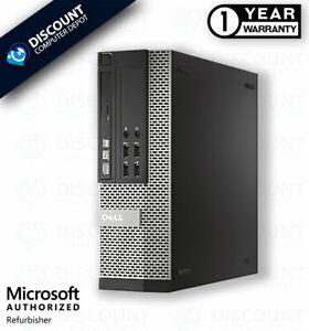 Dell i5 Desktop Computer Intel Core i5 SFF 16GB RAM 256GB SSD Windows 10 Pro DVD