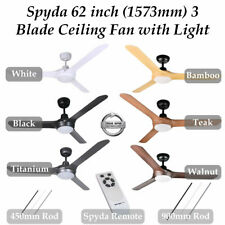 "Ventair Spyda 62"" 1573mm 3 Blade Indoor/Outdoor Ceiling Fan with CCT LED Light"