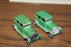 TWO VINTAGE TOOTSIETOY  1928 FORD MODEL A SEDANS
