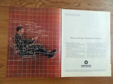 1963 Chrysler Ad Engineers use Anthropometrical Figures