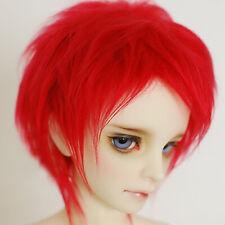 "9-10"" 24cm Wool/plush short Wig  Red For 1/3 24"" 60CM Male BJD SD DK DZ Doll"