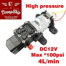 12 V Haute Pression Auto Pompe Bateau a Eau a Membrane 4L/min 100 PSI