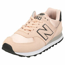 New Balance 574 Womens Rose Water Suede & Textile Fashion Trainers