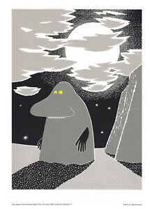 Moomin Poster Groke Tove Jansson 24 x 30 cm