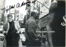 Neile Adams signed postcard autograph Filipino-American actress Steve McQueen
