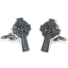 Celtic Cross Cufflinks with Chrome Case (X2NYU002-DCB)