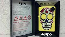 ZIPPO, LIGHTER, LEMON SKULL LIGHTER, DAY OF DEAD, MODEL 24894